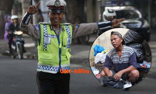 polisi,pemulung,Bripka Seladi