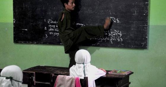 pak guru,pak untung,semangat,mengajar