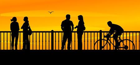 senja,dating,bertemu orang