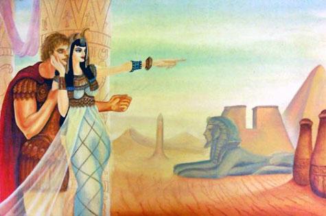 kisah cinta,cleopatra,mark antony