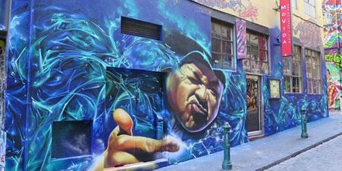 seni grafiti,kreatifitas,melbourne