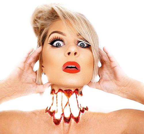 kepala mengambang,ilusi makeup,trend makeup