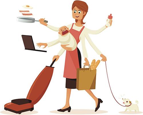 pekerjaan rumah tangga,ibu rumah tangga, multitasking