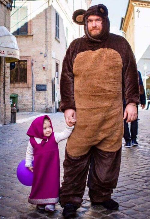 masha & the bear,ayah penyayang,anak,parenting