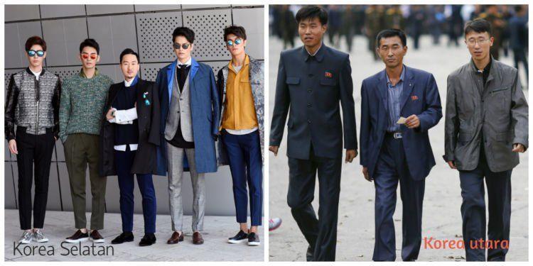 korea utara,korea selatan,fashion,budaya