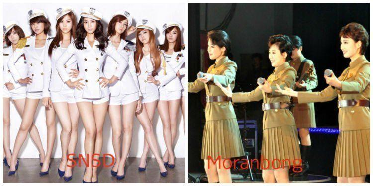 korea utara,korea selatan,girlband