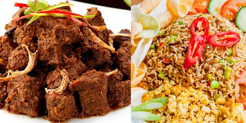 makanan,indonesia,rendang,nasi goreng