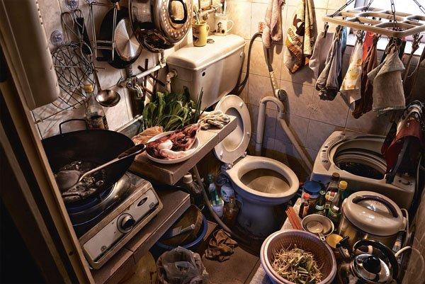 3. Toilet dan dapur menjadi satu?