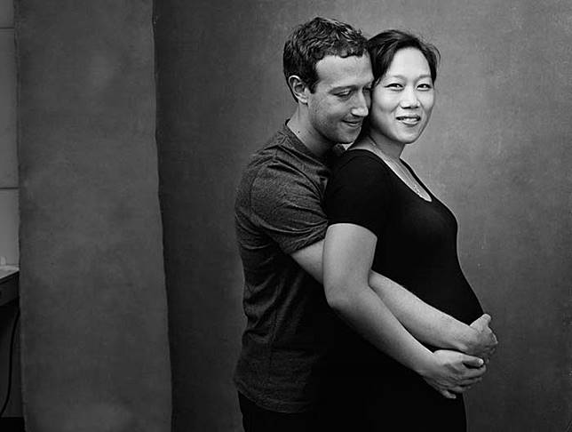 Maternity Shoot Mark Zuckerberg & Priscilla Chan dilakukan sederhana