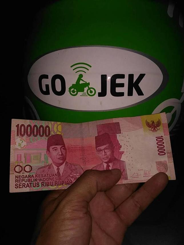 Alhamdulilah, dapat tip Rp 100.000