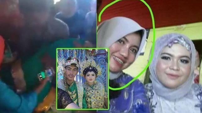 Viral pengantin pria peluk mantan di pernikahannya