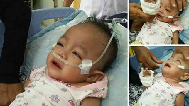 Dimas, bayi tunanetra yang ditinggal pergi ibunda sejak usia dua bulan