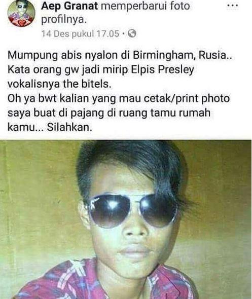 Elpis Presley in the making.... iya in aja deh biar cepet kelar