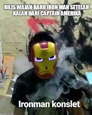 10. Iron Man nya kepanasan nih