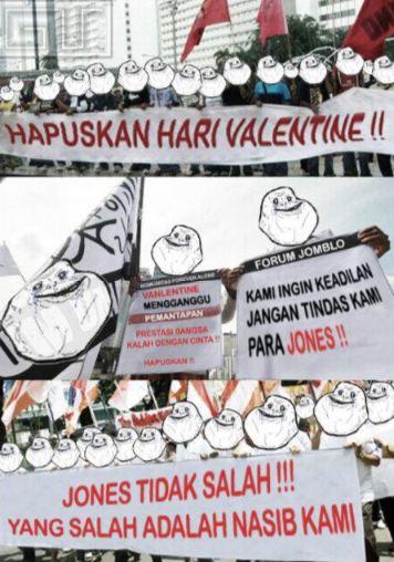 2. Demi jones, please hapuskan Hari Valentine