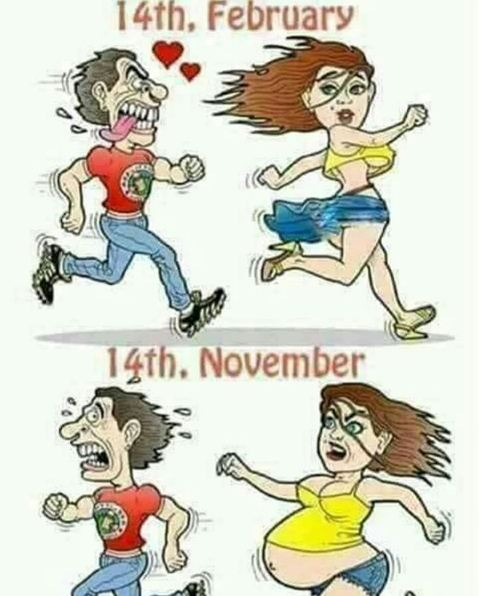3. Perbedaan sebelum dan sesudah Valentine
