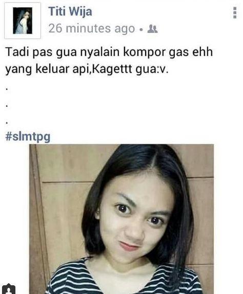 5. Ngaku aja, kamu fokus sama muka atau sama statusnya? Hehehe….