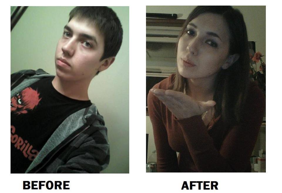 4. Ini foto Ashley sebelum dan sesudah. Gimana menurutmu?