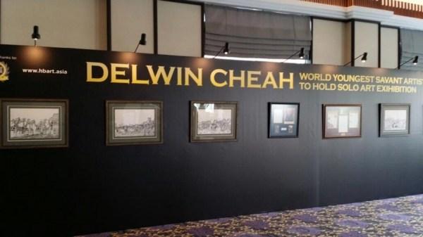 Delwin akhirnya menggelar pameran tunggal pertamanya di tahun 2013