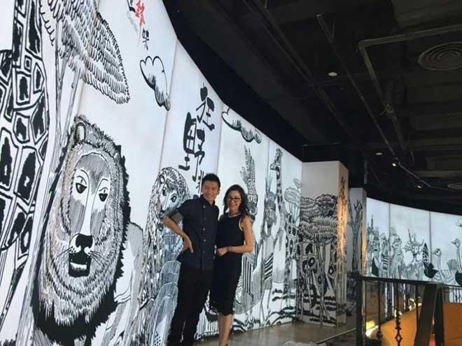 Delwin Cheah di acara Chef Nic bersama Nicholas Tse