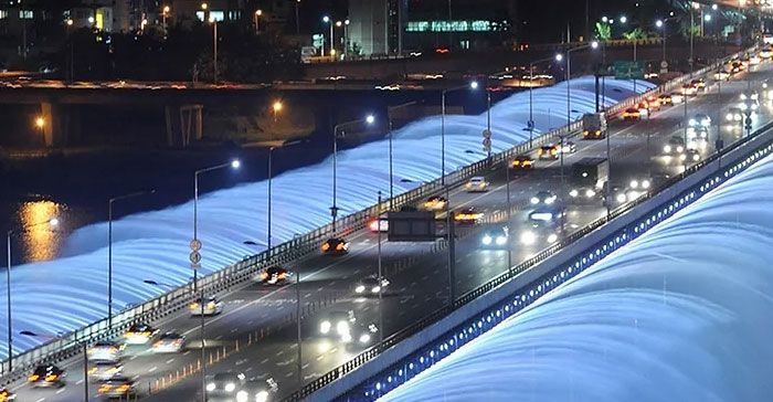Banpo Bridge Fountain Korea Selatan