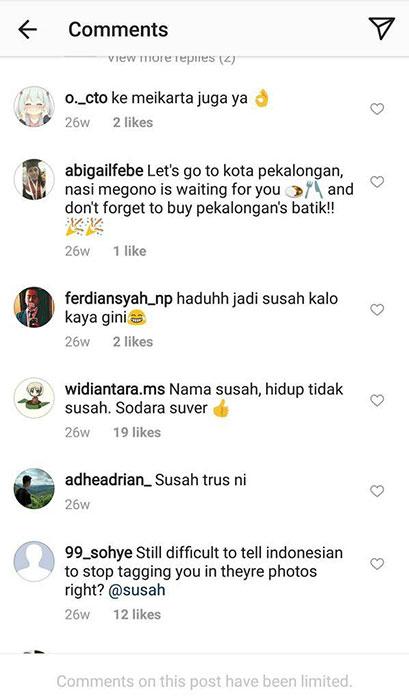 """Akun Instagram """"Susah"""" banjir komentar netizen Indonesia"""