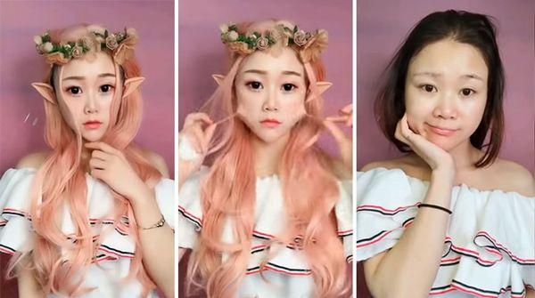 2. Bak peri saat pakai make up. Tanpa make up masih cantik sih, tapi bikin pangling banget!