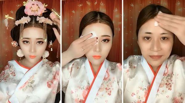 3. Make up nya bikin kelihatan cantik abis! Pas dihapus jadi beda banget