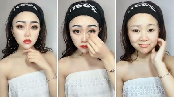 9. The power of make up juga bisa bikin pipi kelihatan lebih tirus, hehehe…