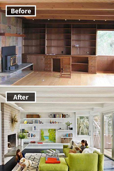 10. Sudah bosan dengan aksen kayu? Merubah total ruangan dengan trik ini bisa membuatnya terlihat lebih luas dan modern