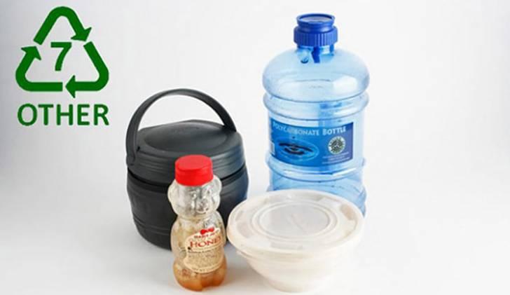 Arti 7 = Other pada kemasan botol plastik