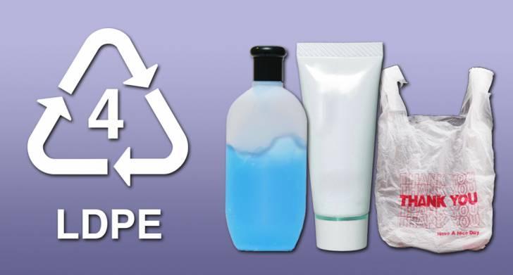 Arti LDPE (low density polyethylene) pada kemasan botol