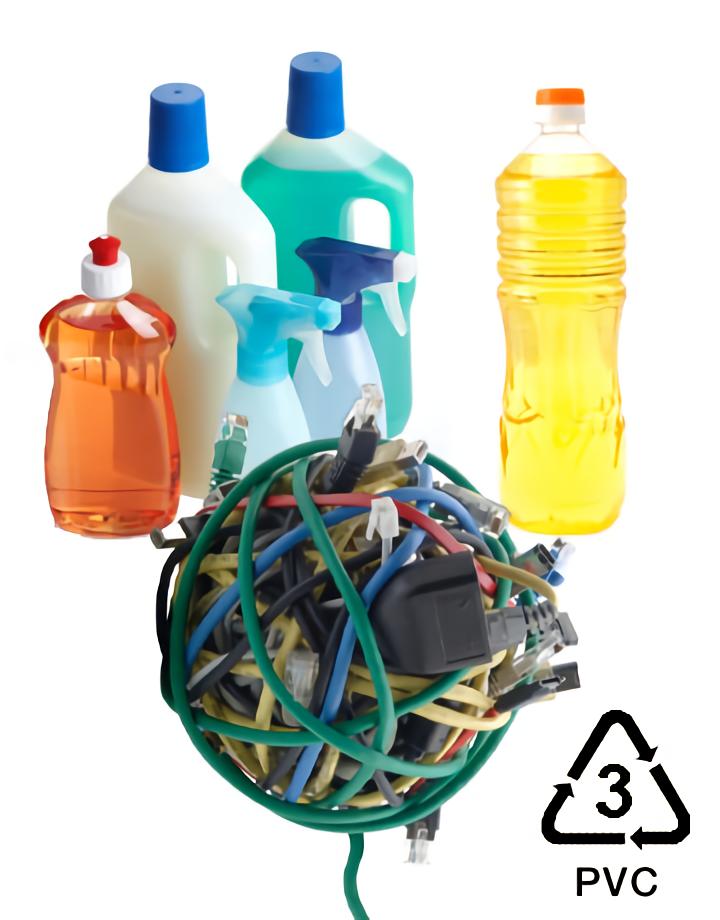 Arti V atau PVC (polyvinyl chloride) pada kemasan botol