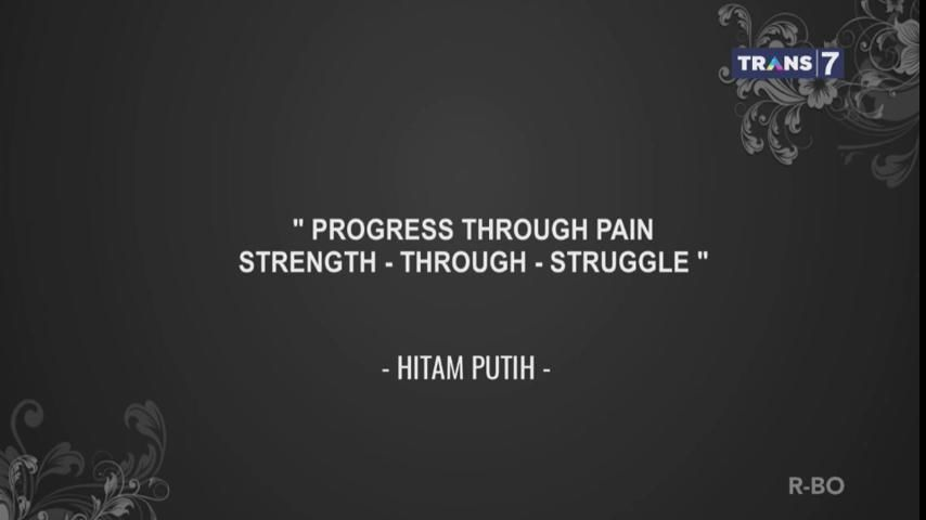 Sebuah kemajuan dilalui dengan melewati rasa sakit terlebih dulu