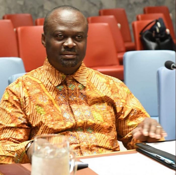 Delegasi DK PBB dengan mengenakan batik